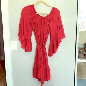 Off the shoulder red dress WHBM size S